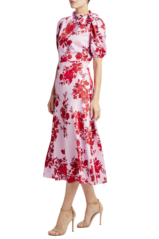 MLML printed midi dress with high neck