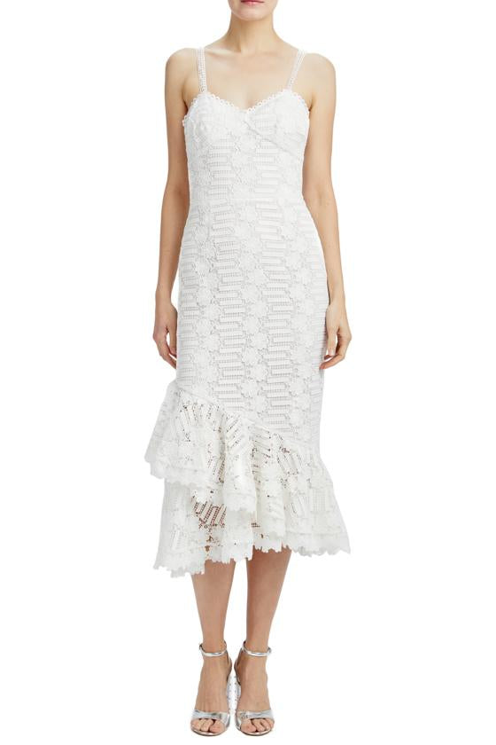 MLML white lace midi dress resort 2020