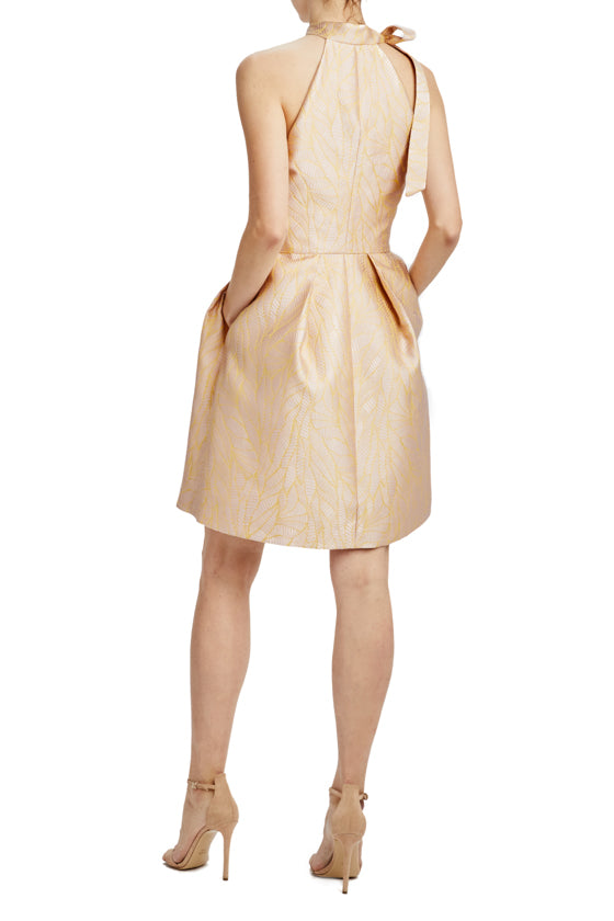 Monique Lhuillier rose sorbet cocktail dress with pockets