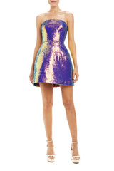 sequin mini dress strapless