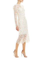 Monique Lhuillier long sleeve lace dress