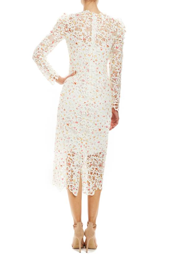 Spring 2020 Lace cocktail dress long sleeves