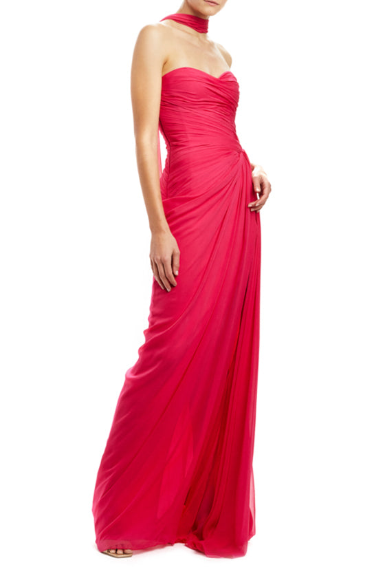 Fall 2020 Fuchsia evening gown