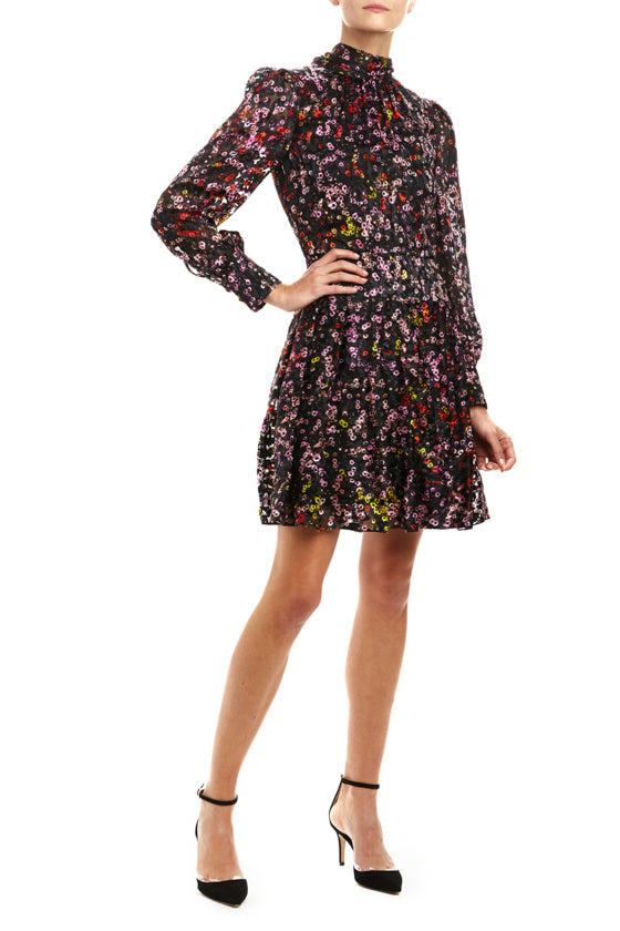 Daisy Pop High Neck Dress