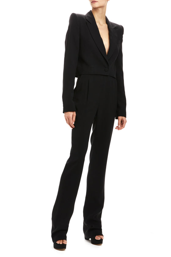Cropped Tailored Suit Jacket