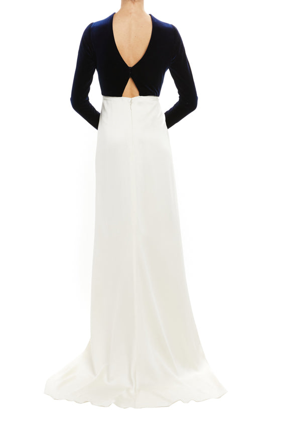 Draped Velour Crepe Gown