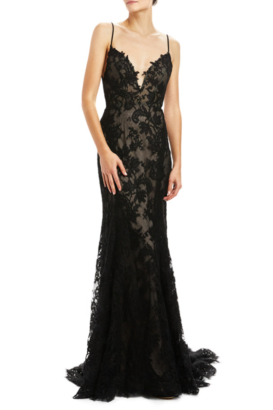Lingerie inspired sheath gown Monique Lhuillier