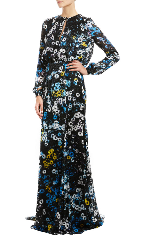 Fall 20 floral evening gown