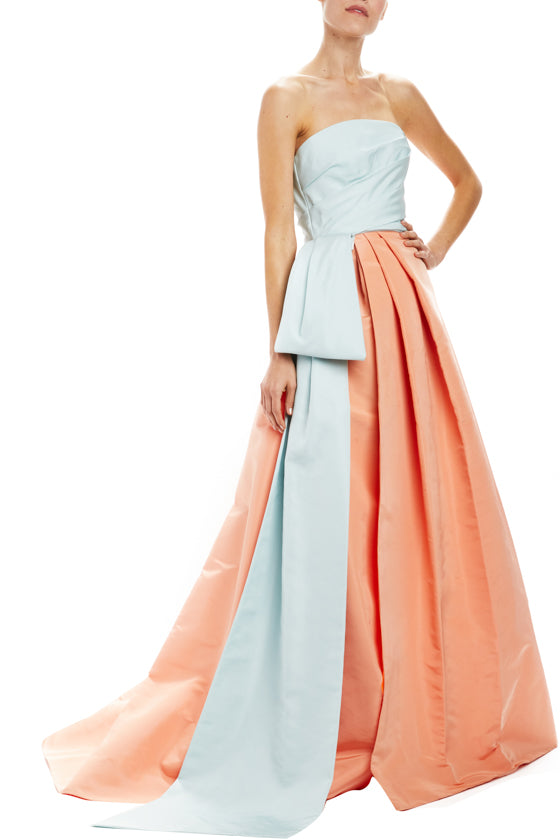 Monique Lhuillier Strapless Ball Gown