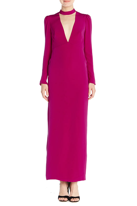 Long Sleeve Column Gown