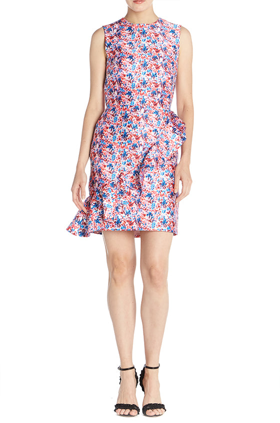 Mini Printed Sheath Dress - moniquelhuillier