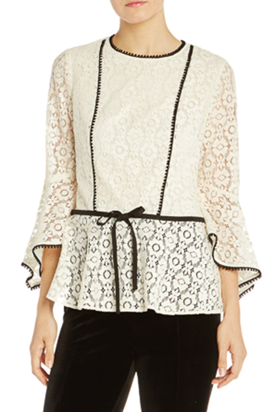 ML Lace Top With Ruffle Sleeve- FINAL SALE