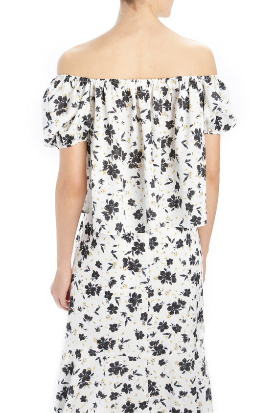 MLML short sleeve printed black and white blouse