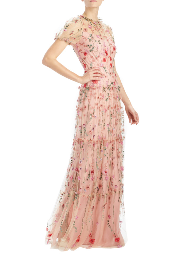 Spring 2020 Floral Gown Pink