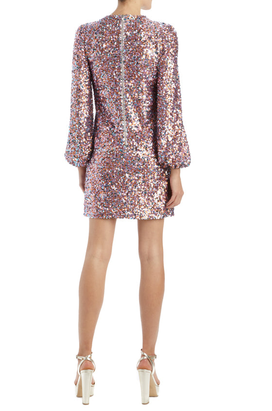 Lilac sequin MLML long sleeve cocktail dress