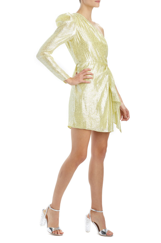ML Monique Lhuillier metallic mini dress