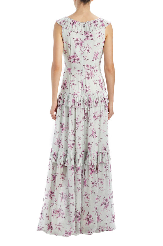 SP20 floral v-neck gown