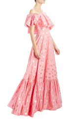 Spring 2020 polka dot gown pink