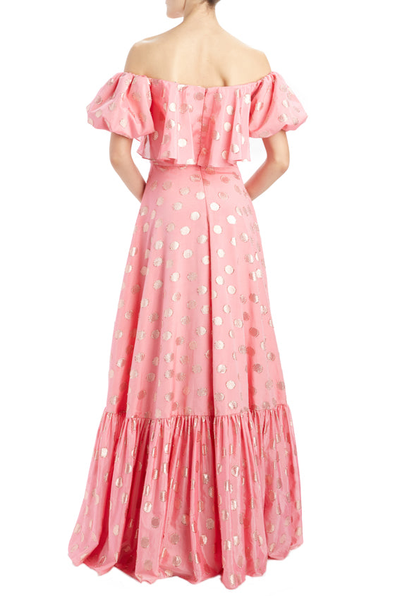 MLML SP20 off the shoulder gown pink