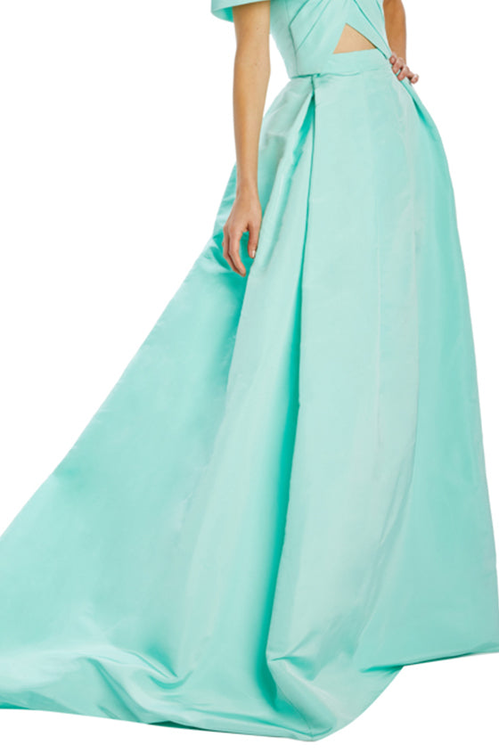 Mint Silk Faille ball skirt Spring 2020