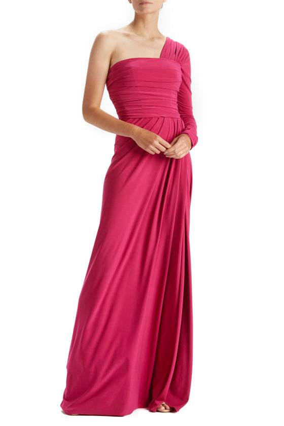 One Sleeve Matte Jersey Gown