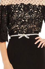 Embroidered Bow Belt