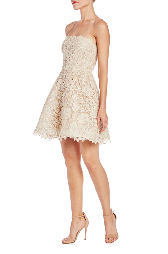 Monique Lhuillier Lace Cocktail Dress