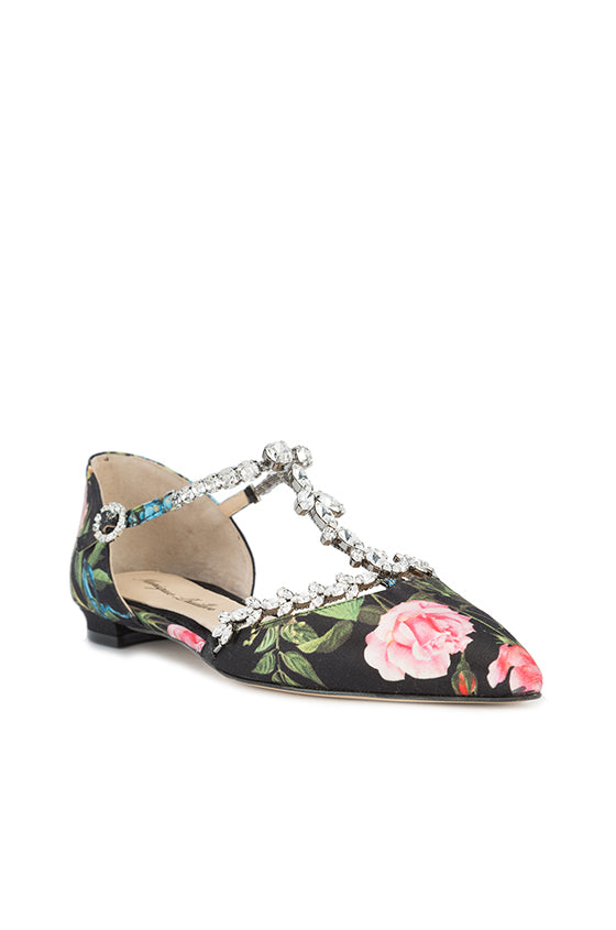 Monique Lhuillier Floral Printed Flat