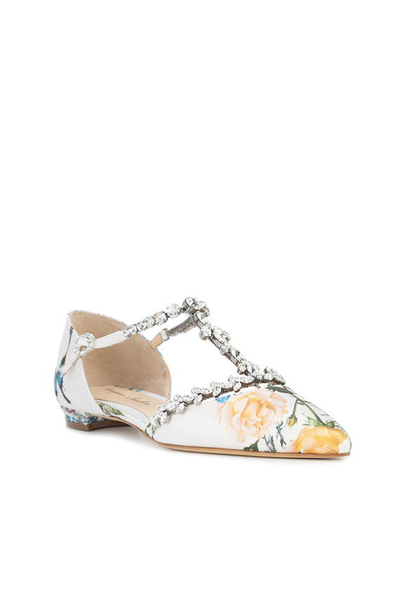 Italian made floral flat