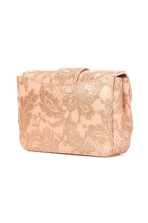 Monique Lhuillier lace shoulder bag