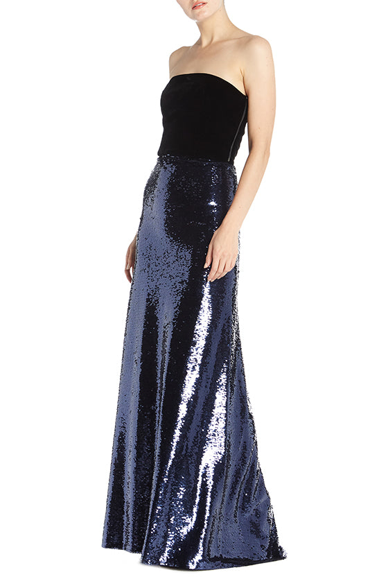 Sequin Floor Length Skirt - moniquelhuillier