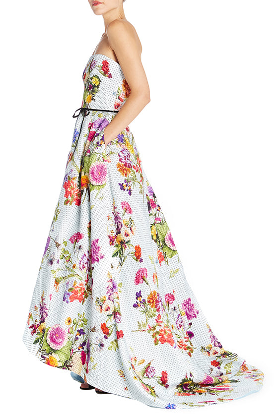 Dotted Bouquet High Low Gown
