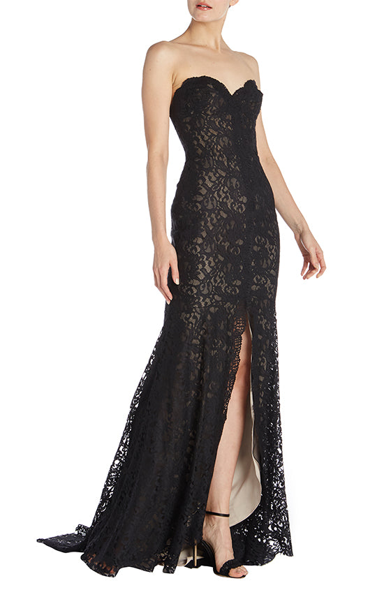 Strapless Lace Trumpet Gown - moniquelhuillier