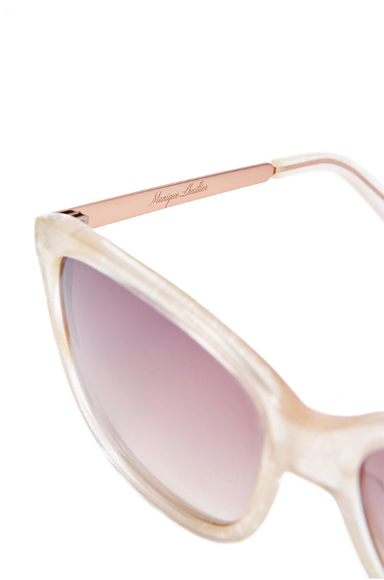 Gold square acetate Monique Lhuillier sunglasses