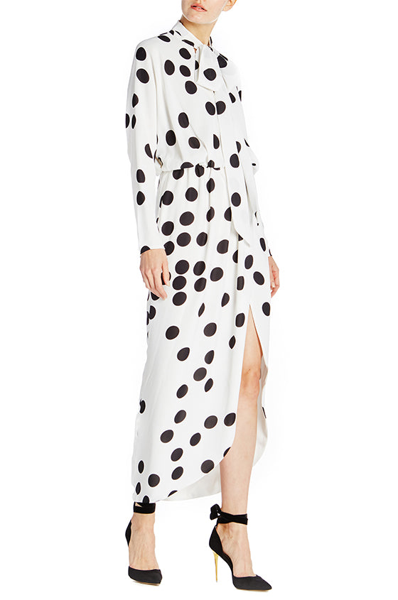Long Sleeve Wrap Dress - moniquelhuillier