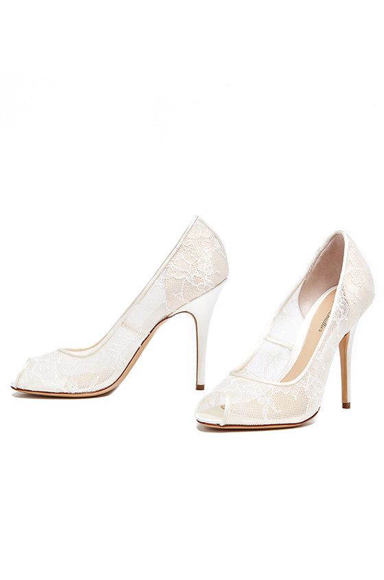 Monique Lhuillier Lace Bridal Pump