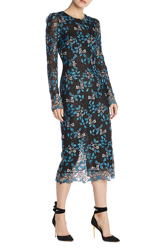 Long Sleeve Sheath Dress - moniquelhuillier