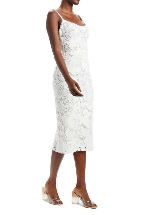 Guipure Lace Fitted Dress
