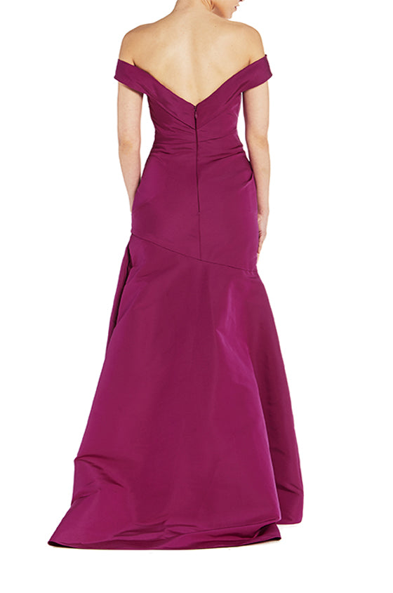 Off The Shoulder Faille Gown - moniquelhuillier
