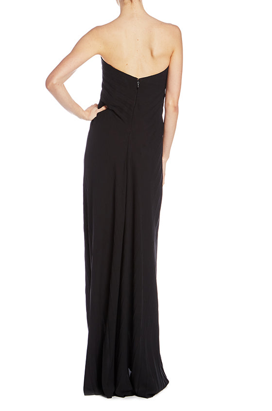 Strapless Pleated Gown - moniquelhuillier