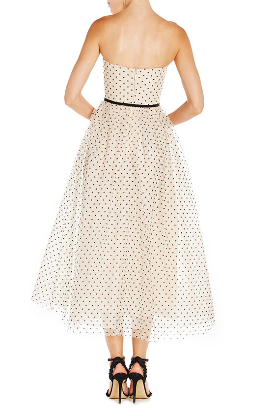 Dotted Tea Length Dress - moniquelhuillier