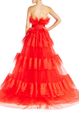 Strapless Tiered Ball Gown- FINAL SALE