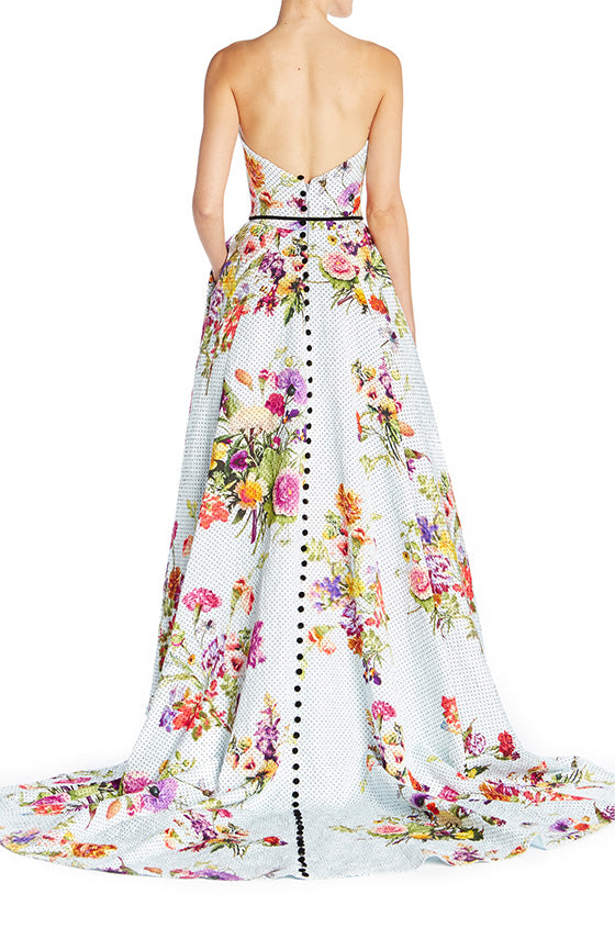 Dotted Bouquet High Low Gown - moniquelhuillier
