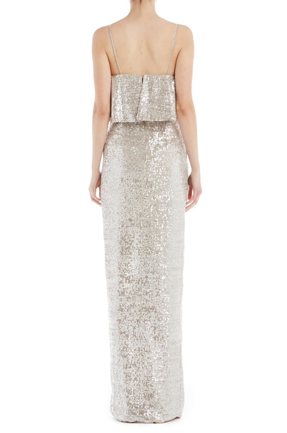 ML Monique Lhuillier Sequin Gown- FINAL SALE