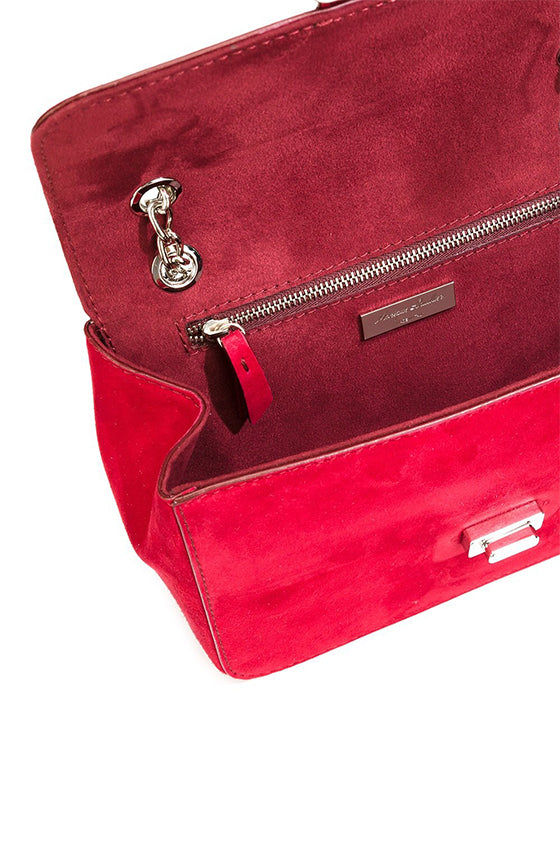 Monique Lhuillier Red Shoulder Bag