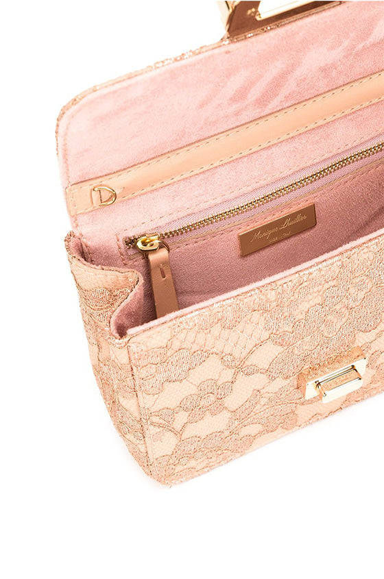 Gold and Pink lace purse