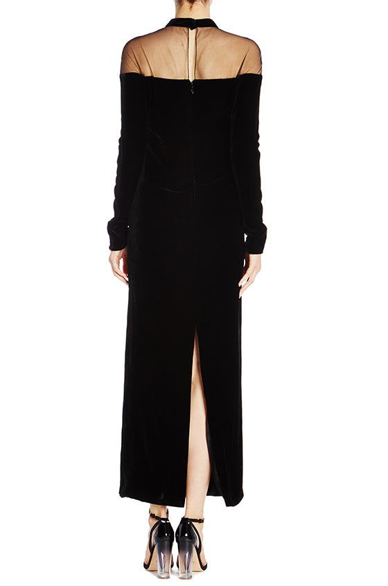 Velvet Column Gown - moniquelhuillier