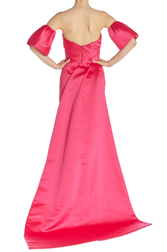 Duchess Satin Column Gown - moniquelhuillier