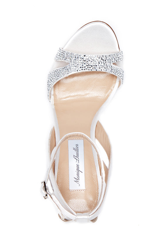 Avril Crystal Studded Sandal - moniquelhuillier