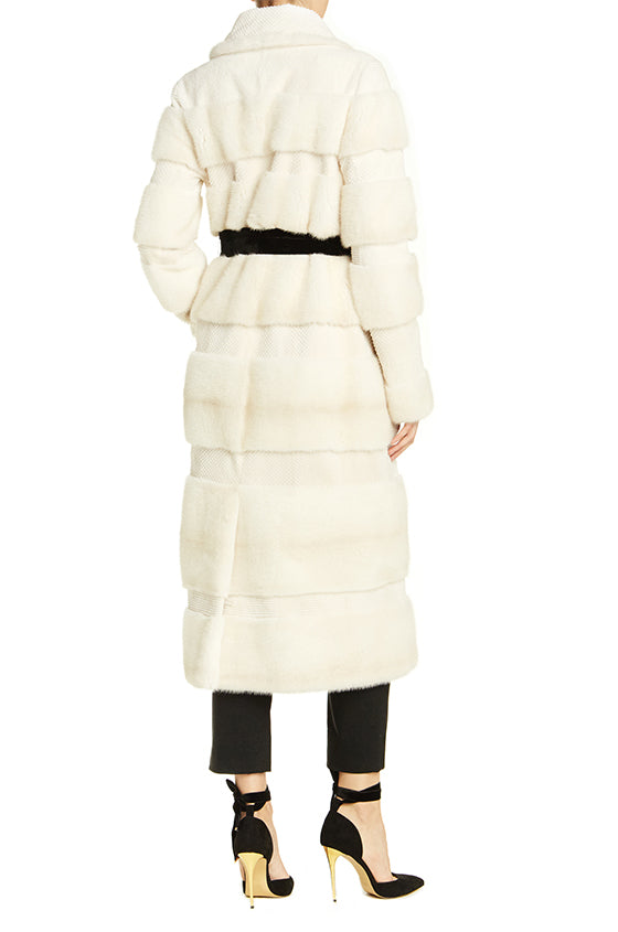 ML White Mink Fur Coat